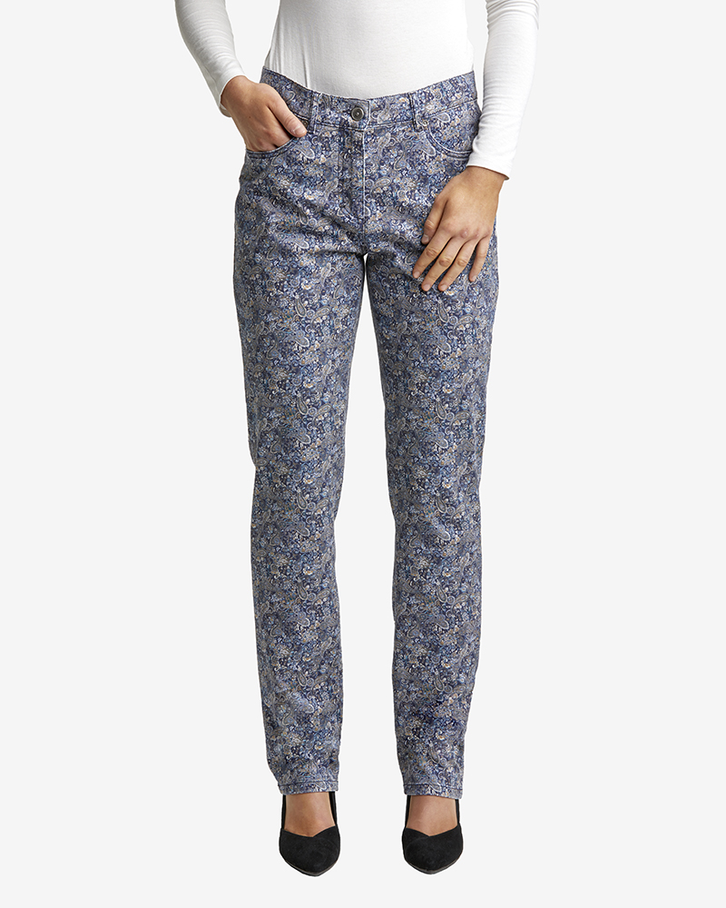 STRETCHJEANS L IN PAISLEYDRUCK